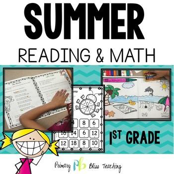 Summer Review No Prep (1st Grade) Reading and Math