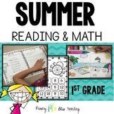 First Grade Summer Reading & Math Review (No Prep)