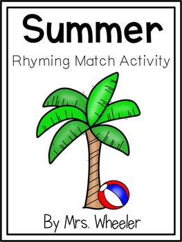 First Grade Summer Rhyming Match