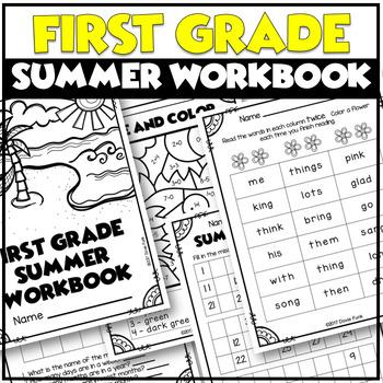 "First Grade Summer ""Think"" Book Workbook - End of Year"