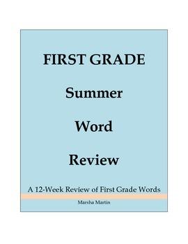 First Grade Summer Word Review
