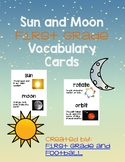 First Grade Sun and Moon Vocabulary Cards