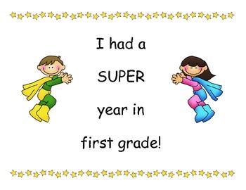 First Grade - Super End of School Year Super Hero Certificates