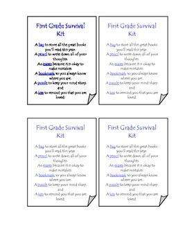 First Grade Survival Kit