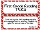 First Grade TEKS Bundle w/ Zebra Background