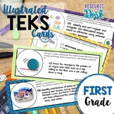 First Grade TEKS Bundle- Illustrated and Organized Objectives Cards