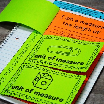 First Grade Math Interactive Notebook: Measurement (Length & Time) TEKS
