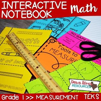 First Grade Math Interactive Notebook: Measurement (Length