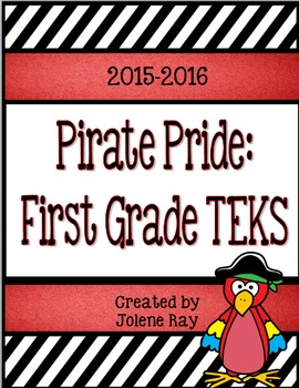 "First Grade TEKS ""We will"" Statement Poster Bundle: Pirate Pride"