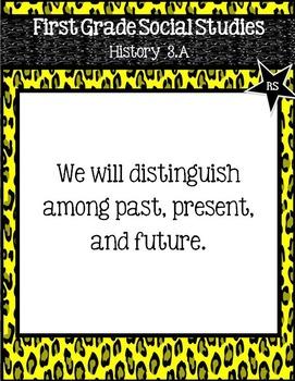 """First Grade TEKS """"We will"""" Statement Poster Bundle: Wild Neon Theme"""