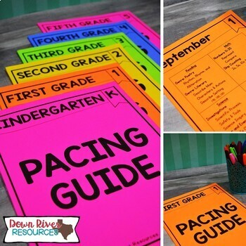 First Grade TEKS Year Planner-Back to School-Texas 1st Curriculum Pacing Guide