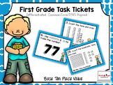 First Grade Task Tickets: Math: Base Ten Place Value (Diff