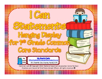 First Grade Teacher/Kid Friendly Common Core Style Cards Color