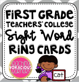 First Grade Teachers' College Sight Word Rings