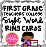 First Grade Teachers' College Sight Word Ring Cards