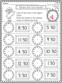 Telling Time - 1st Grade by Frogs Fairies and Lesson Plans ...