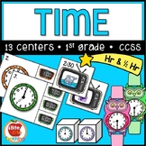 First Grade Telling Time Centers