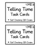 First Grade Telling Time Task Cards (with Self-Checking QR Codes)