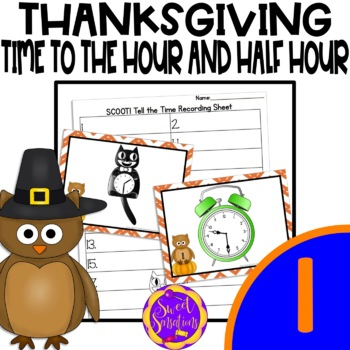 Hour and Half Hour Time Scoot (1.MD.B.3)