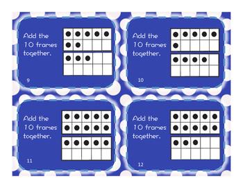 First Grade Ten Frames Task Cards