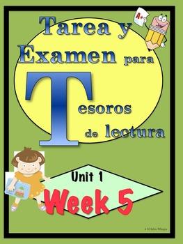 First Grade Tesoros de lectura Homework Package Unidad 1 Semana 5
