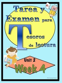 First Grade Tesoros de lectura Homework Package Unidad 2 Semana 4