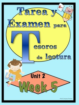 First Grade Tesoros de lectura Homework Package Unidad 2 Semana 5
