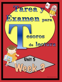 First Grade Tesoros de lectura Homework Package Unidad 5 Semana 3