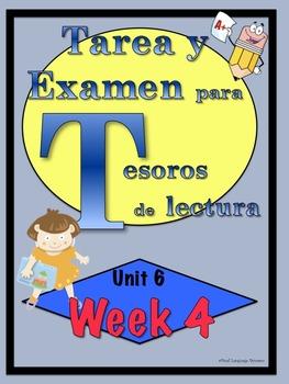 First Grade Tesoros de lectura Homework Package Unidad 6 Semana 4