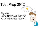 First Grade Test Prep (NAPA) Strategies