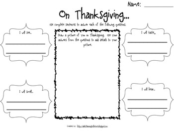 First Grade Thanksgiving Centers
