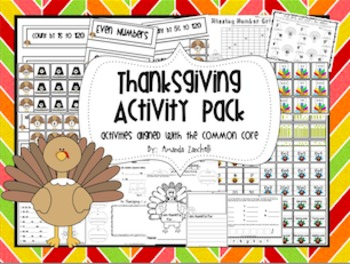 First Grade Thanksgiving Centers