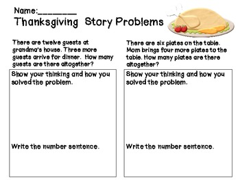 Thanksgiving Literacy & Math Common Core