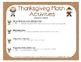 First Grade Thanksgiving Math Activities