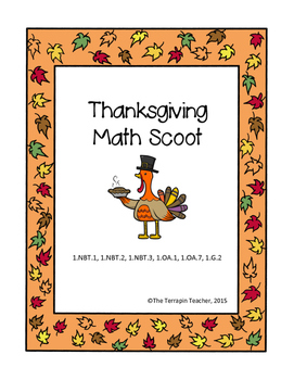 First Grade Thanksgiving Math Scoot