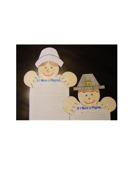 First Grade Thanksgiving Writing Craftivity - Pilgrims