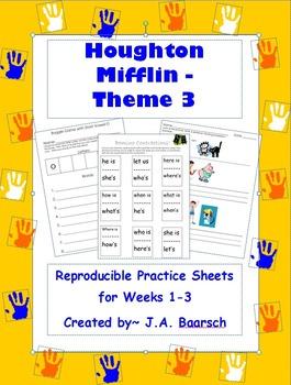 First Grade Theme 3 Houghton Mifflin Reproducibles