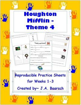 First Grade Theme 4 Houghton Mifflin Reproducibles
