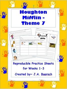 First Grade Theme 7 Houghton Mifflin Reproducibles