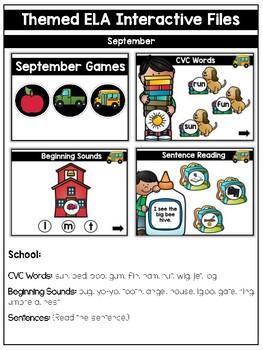 First Grade Themed Interactive ELA Files