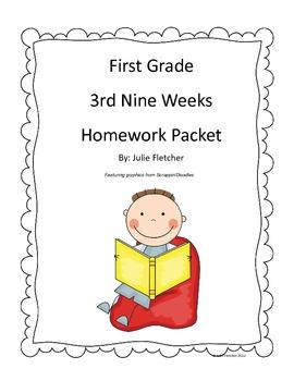 First Grade Third Nine Weeks Homework Packet