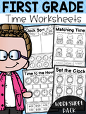 First Grade Time Worksheets - Hour, Half Hour & Quarter Hour