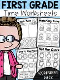 First Grade Time Worksheets - Hour, Half Hour & Quarter Hour