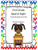 First Grade Timed Decoding