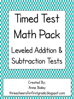 First Grade Timed Test Leveled Pack