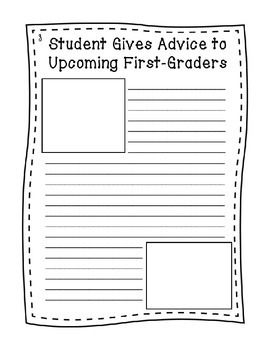 "End of Year Writing Activity - ""First Grade Times"""