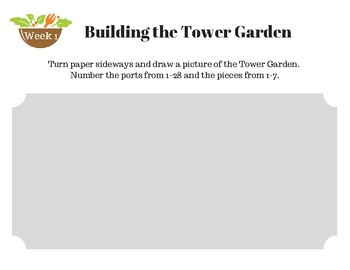 Tower Garden First Grade Journal