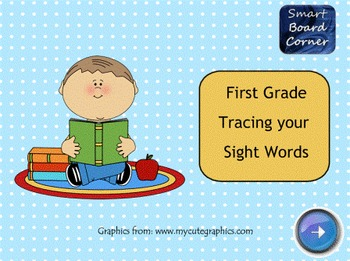 First Grade Tracing Your Sight Words SMART Board Lesson