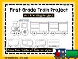 First Grade Train Art Project, 1st Grade Cut and Color - Cooperative Art