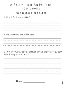 First Grade Treasures 5.5 A Fruit is a Suitcase for Seeds Supplemental Material